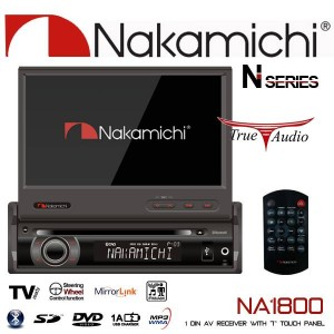 "Nakamichi NA-1800 7"" SINGLE DIN IN-DASH TOUCH SCREEN AV RECEIVERS"