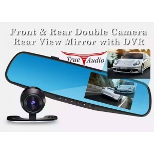 REAR VIEW MIRROR WITH FRONT & REAR DVR RECORDER