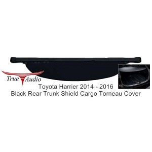 TOYOTA HARRIER 2014 - 2016 BLACK REAR TRUNK SHIELD CARGO TORNEAU COVER