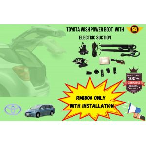 TOYOTA WISH POWER BOOT WITH ELECTRIC SUCTION