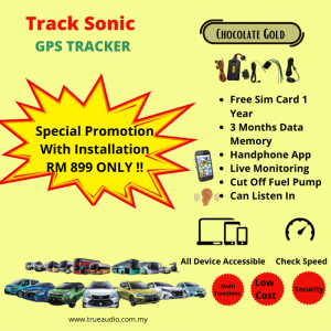 TRACK SONIC CHOCOLATE GOLD GPS TRACKER