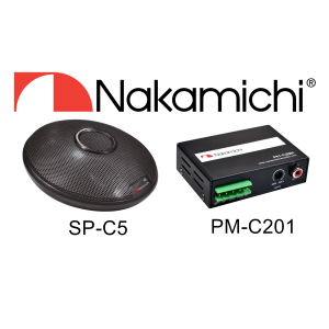 NAKAMICHI SP-C5 8W CENTER SPEAKER & PM-C201 100W MINI AMPLIFIER